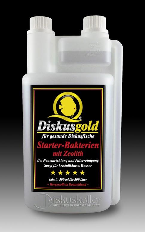diskusfische diskusgold starterbakterien mit zeolith 500 ml. Black Bedroom Furniture Sets. Home Design Ideas