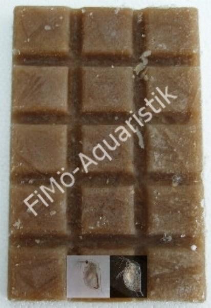 Moina (mini Wasserflöhe) 100 g Schokotafel