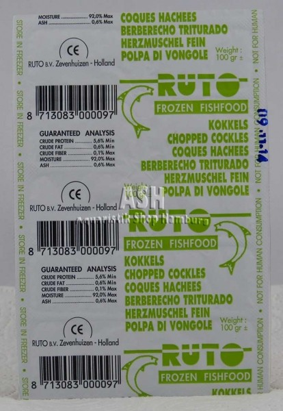 RUTO's Herzmuscheln (gehackt) 100g Blister