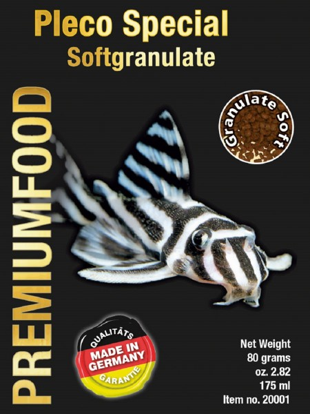 Premiumfood Pleco Special Softgranulat 80g von Discusfood - Granulat für Welse