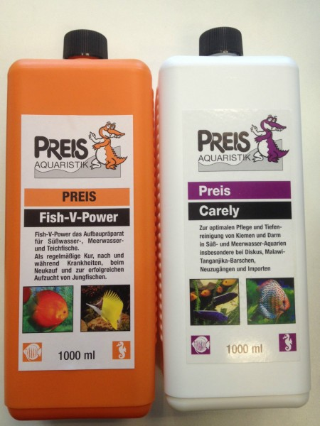 Preis Fish-V-Power Vitamine 1000 ml & Preis Carely 1000 ml