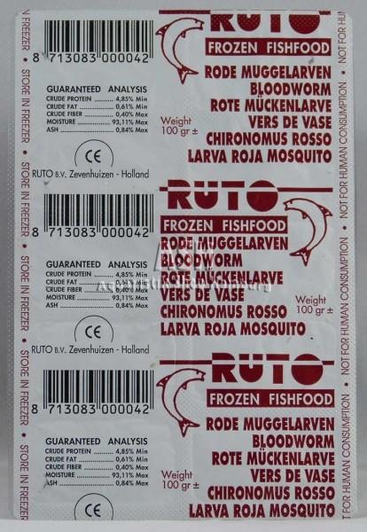 RUTO's Rote Mückenlarven 100g Blister
