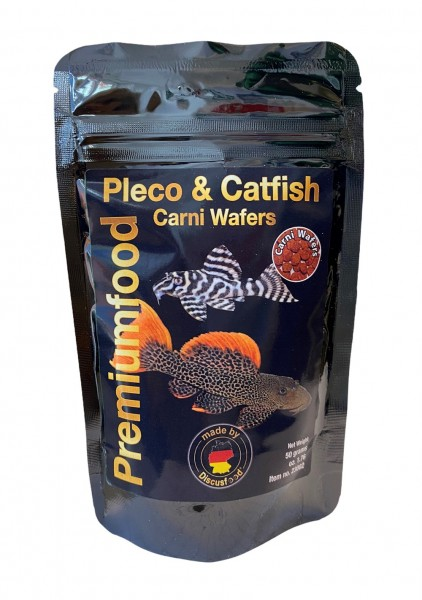 Pleco & Catfish Carni Wafers Discusfood - Futtertabletten - Wels Chips für Welse