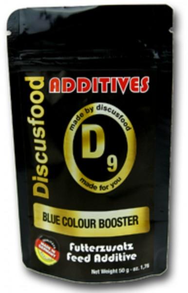 Additiv D9 – Blue Color Booster 50g Discusfood Futterzusatz verstärkt Farbe blau