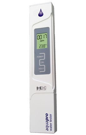 Leitwertmessgerät HM AP-2 mit Mikrosiemens-Anzeige und automatischer Kalibrierung