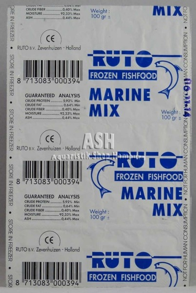 RUTO's Marine-Mix Blister-Verpackung 100g