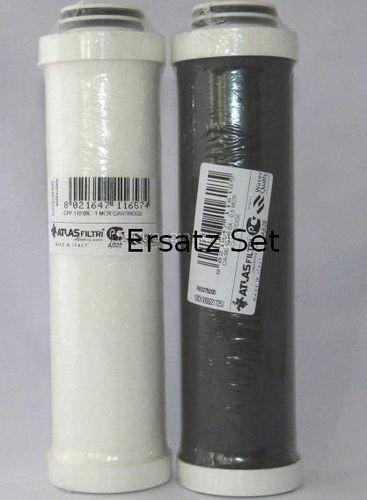 Filterkerzen-Set für Atlas Filtri Carbonfilter mit BX-Kopf (Doppel O-Ring)