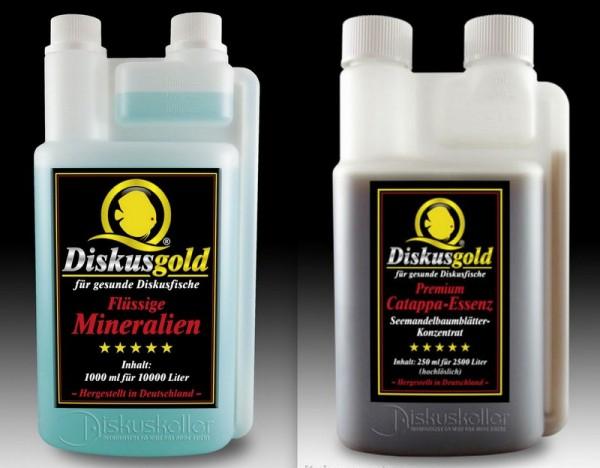 Sparpaket Diskusgold flüssige Mineralien 1000ml + Catappa Essenz 250 ml