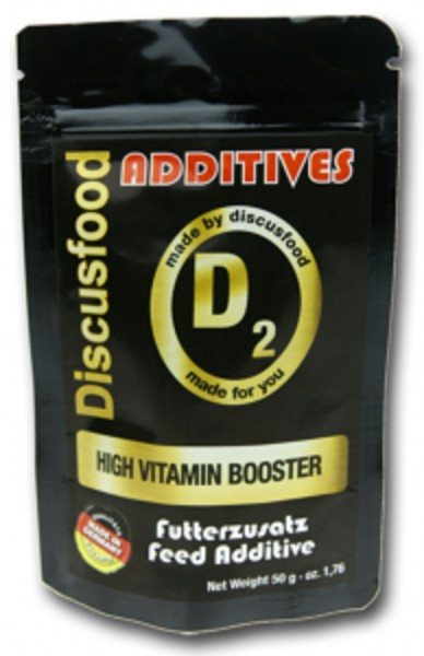 Additiv D2 – Vitamin Booster 50g von Discusfood - Vitamine & Provitamine Verbesserung ihres Futters