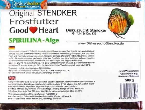 10 x Stendker GoodHeart SPIRULINA Diskusfutter: 500g Flachtafel Sparpaket