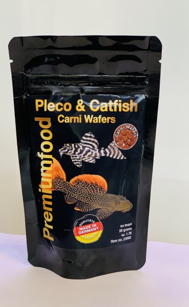Pleco & Catfish Carni Wafers 50g Discusfood - Futtertabletten - Wels Chips für Welse