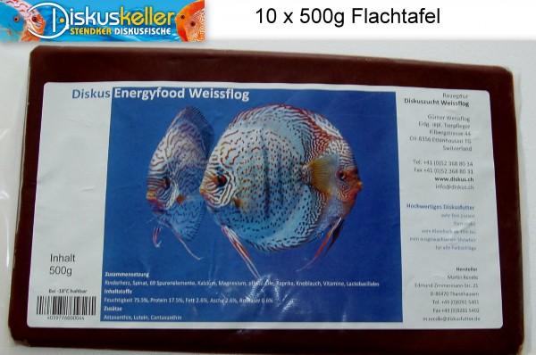 10 x Rendle`s Diskus Energyfood Weissflog 500 g Flachtafeln