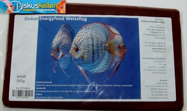 Rendle`s Diskus Energyfood Weissflog 500 g Flachtafel