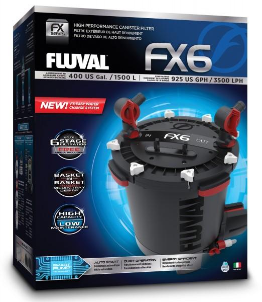 Fluval FX6 Außenfilter für Aquarien bis 1500L - 3500l/h - 41 W