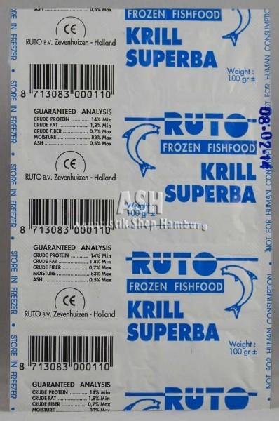 RUTO's Krill Superba (gehackt) 100g Blister