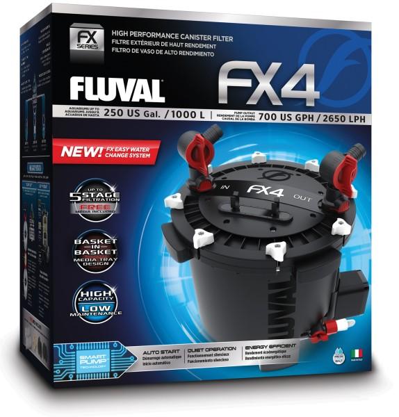 Fluval FX4 Außenfilter für Aquarien bis 1000 Liter - 2600 l/h