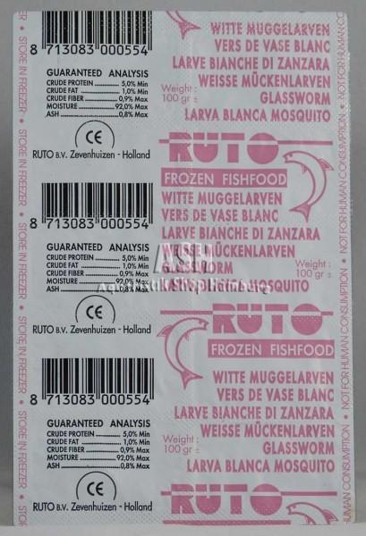 RUTO's Mückenlarven weiß 100g Blister