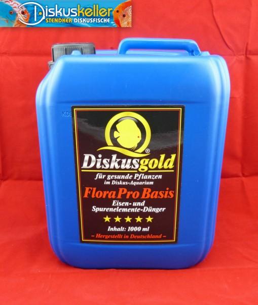 Diskusgold FloraPro Basis: 5.000 ml Basisdünger Volldünger für grandiosen Pflanzenwuchs 5 Liter