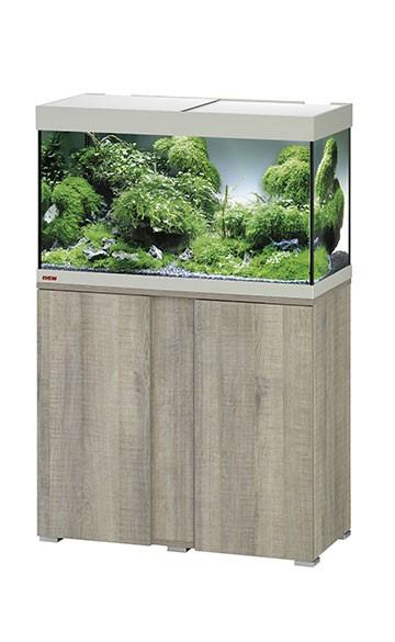 EHEIM vivalineLED 126 - eiche grau - Süßwasser Aquarien-Kombination