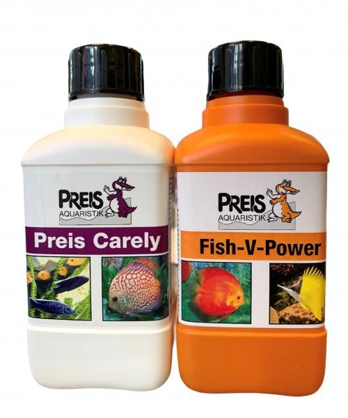 Preis Fish-V-Power Vitamine 250ml & Preis Carely 250ml