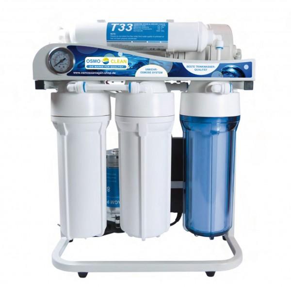 Osmoseanlage 500 GPD Directflow Exklusive, 5-stufig Ab/Reinwasserverhätlniss von ca 1:1, vormontiert