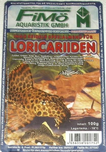 Spezialfutter für Loricariiden (Welse) 100g Blister