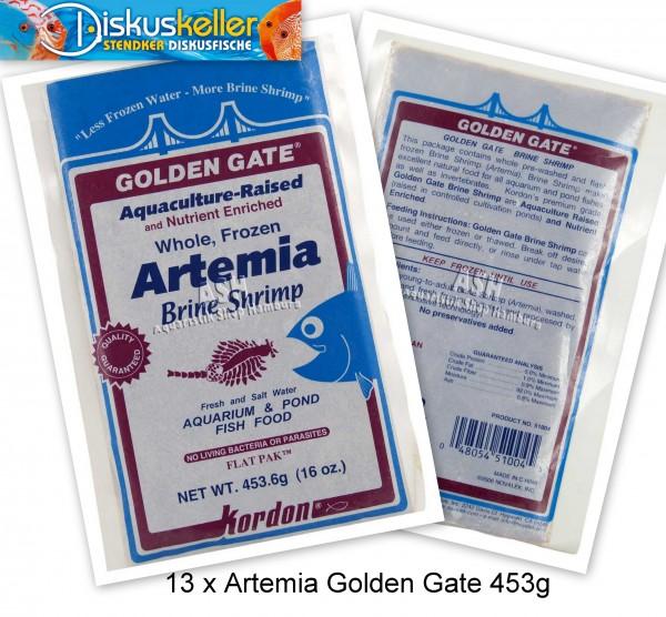 13 x Kordon Artemia Golden Gate 453g Flachtafeln Sparpaket