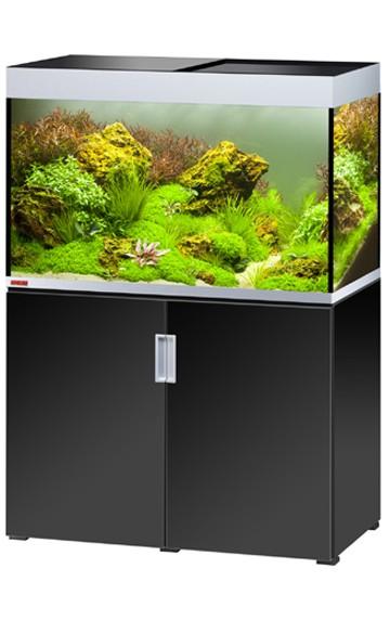 EHEIM Incpiria 300 - schwarz / silber - Süßwasser Aquarien-Kombination