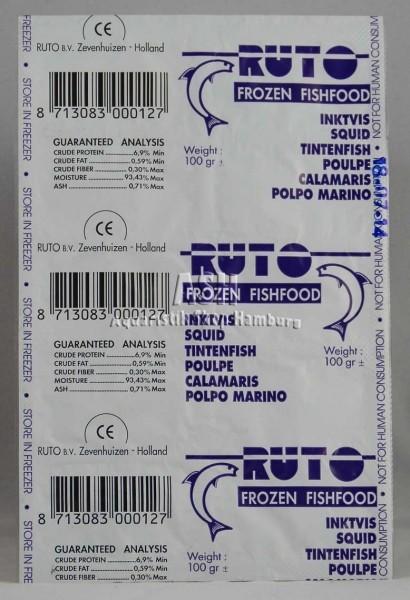 RUTO's Tintenfisch (Calamaris) Blister-Verpackung 100g