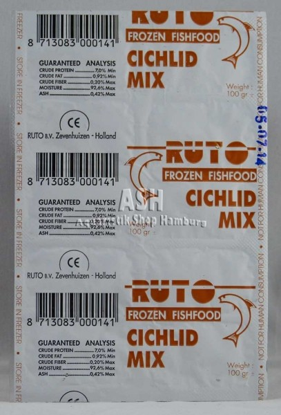 RUTO's Cichlid-Mix 100g Blister