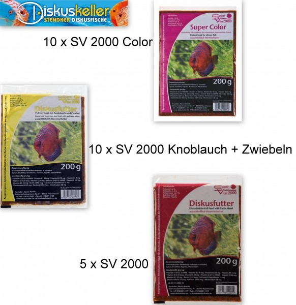 25 x SV 2000 (10 x Color / 10 x Knoblauch/Zwiebel 5 x normal) á 200g Flachtafel Sparpaket