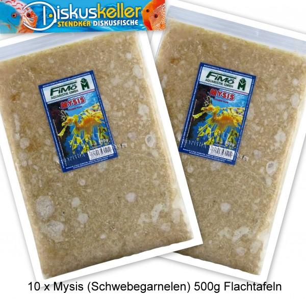 10 x Mysis (Schwebegarnelen) 500g Flachtafeln
