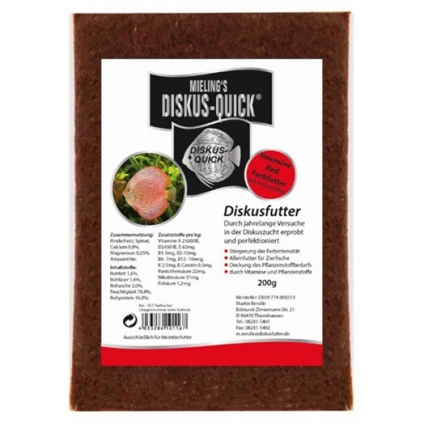 Diskus Quick Intensive red 200g Flat Pak