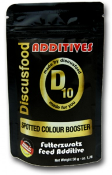 Additiv D10 – Spotted Color Booster 50g Discusfood Futterersatz verstärkt Farben Rot