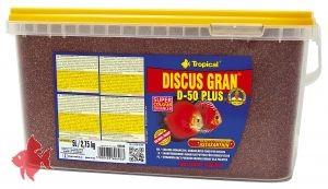 Tropical Discus D 50 Plus Granulat 5000 ml